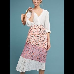 Laia Anthropologie tiered skirt